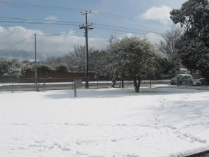 Snow at South End School