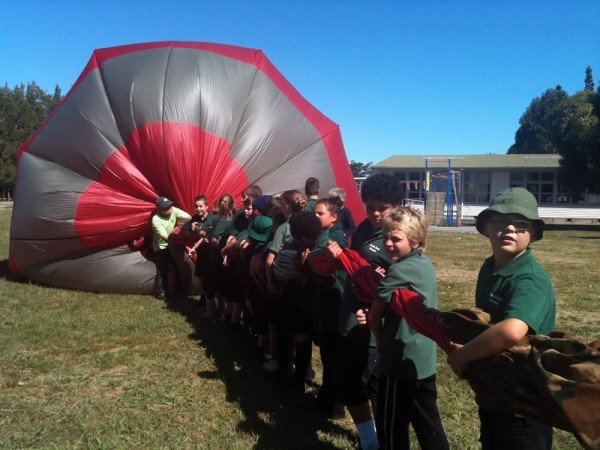 All The Kids Helped To Get The Air Out Of The Balloon South End