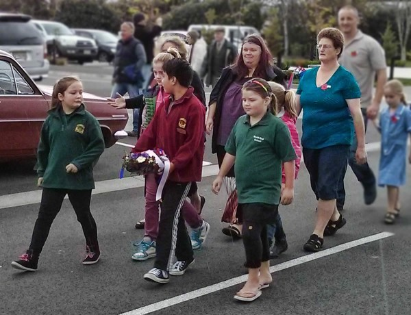 South End School Anzac Day Parade